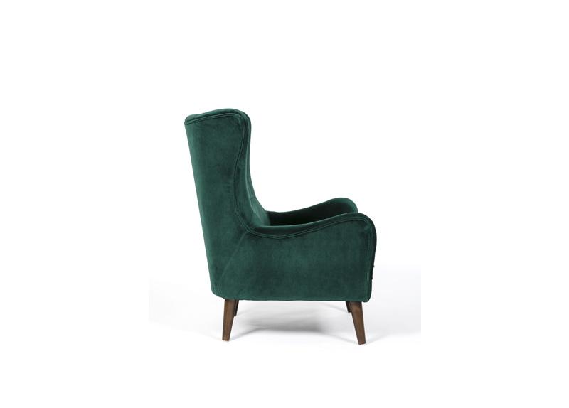 Luxurious Green Velvet Wing Chair, Green Velvet Wing Chair