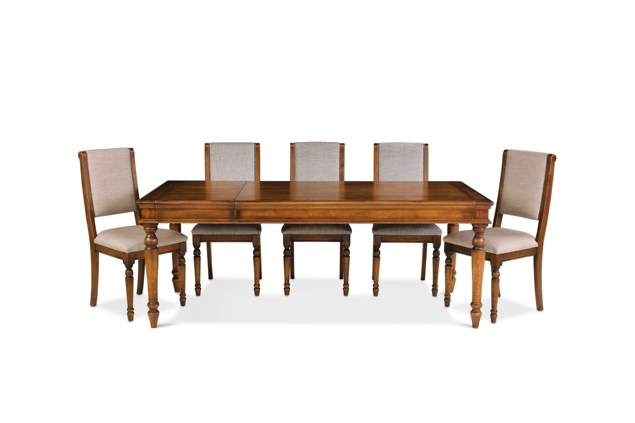 Rochford 5ft Extending Dining Table and Six Chairs - Fahenshaw