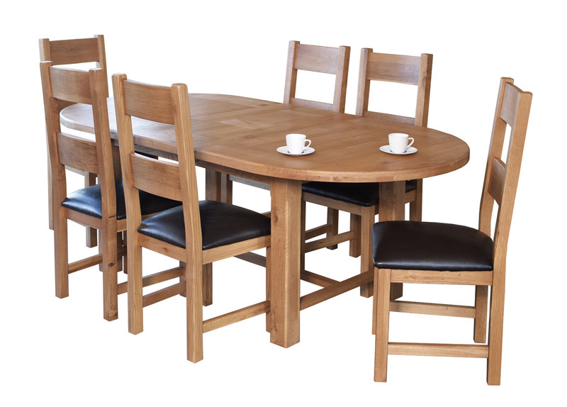 Round Extending Dining Table And Six Chairs Fahenshaw